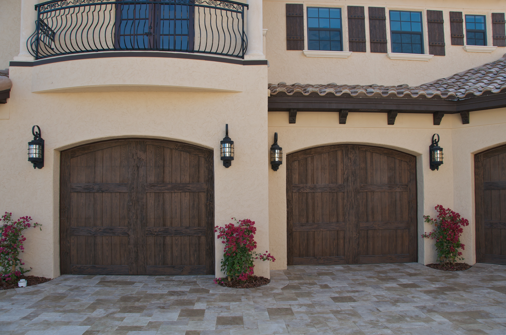 Faux wood garage door sales and installation in englewood for Wood looking garage doors
