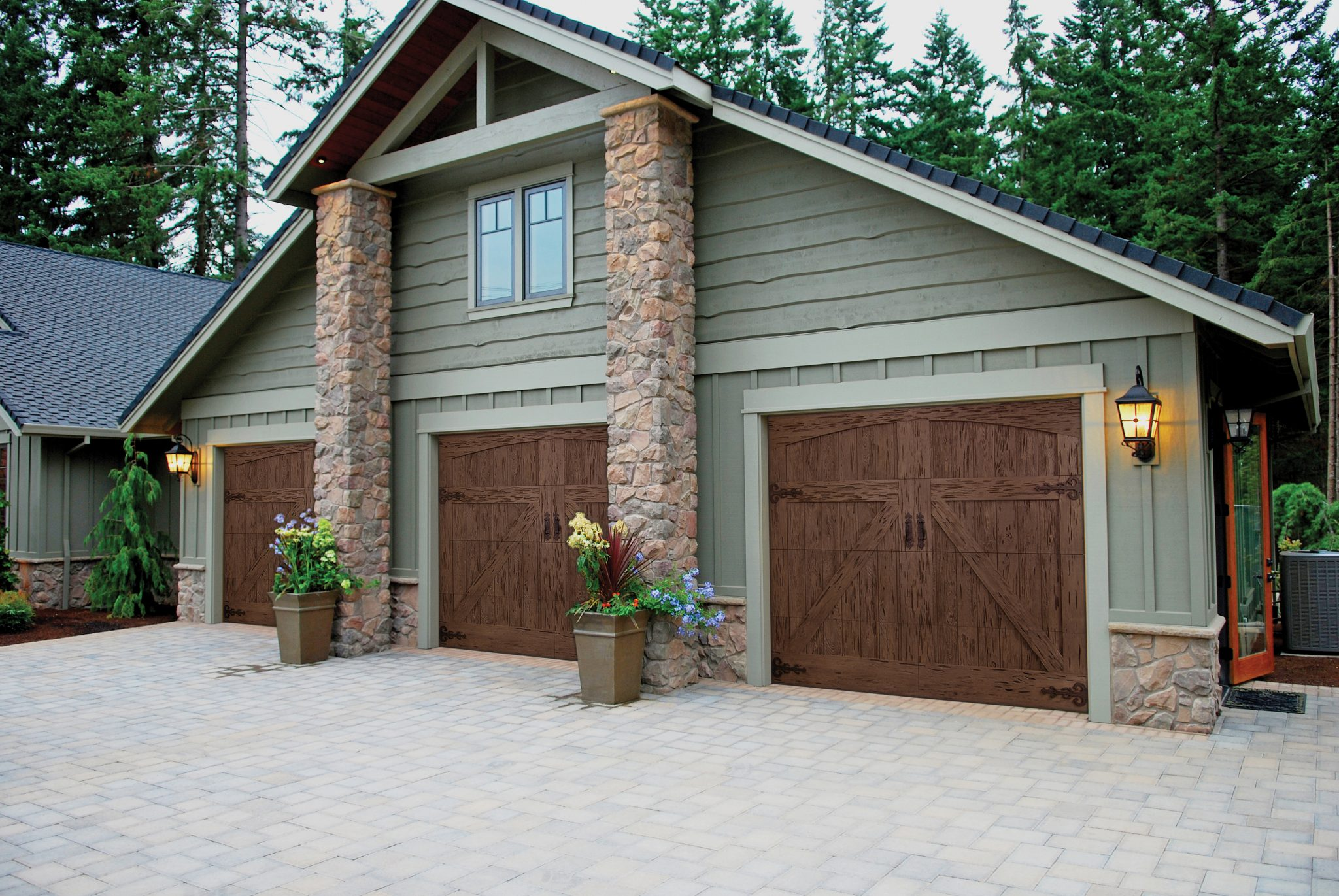 Faux wood garage door sales and installation in englewood Garage door faux wood